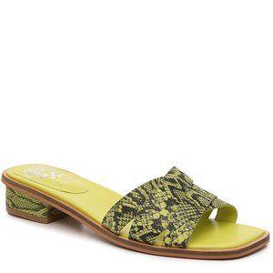 Vince Camuto Ydelle Sandal Black/Lime Green Size 9